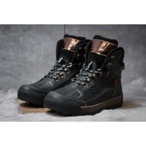Зимние ботинки на меху Switzerland Swiss, черные (30641) размеры в наличии ► [ 41 (последняя пара) ]