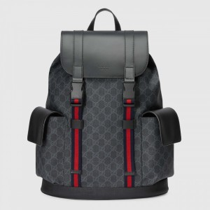 Gucci Soft GG Supreme Backpack Black/Grey