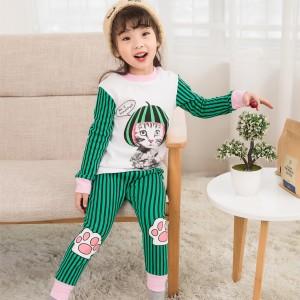 Пижама для девочки Stylish cat Baobaby