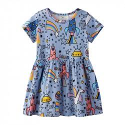 Платье для девочки Единорог в космосе Jumping Meters