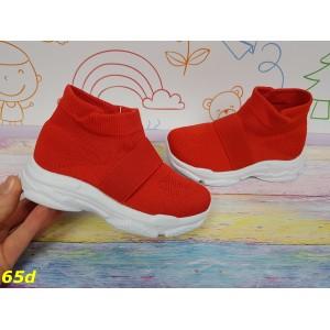 Детские кроссовки слипоны легкие дышащие с резинкой красные
