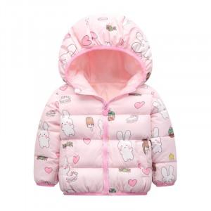 Куртка для девочки Зайчик и сладости, розовый Berni