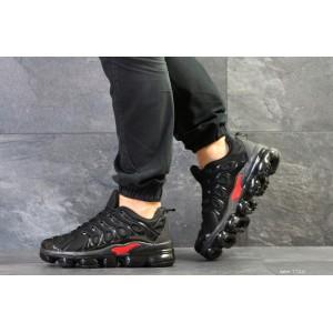 Мужские кроссовки Nike Air Vapormax Plus,текстильные,черные с красным