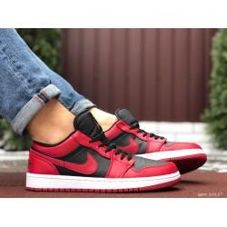 Мужские демисезонные кроссовки Nike Air Jordan 1 Retro,черные с красным