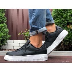 Демисезонные мужские кроссовки Nike Air Force,черно белые