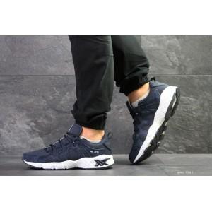 Мужские кроссовки Asics,замшевые,темно синие 44,45р