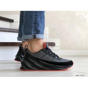Мужские модные кроссовки Adidas Sharks,серые с черным