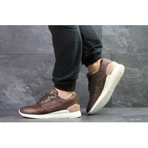Кроссовки мужские Asics Gel,кожаные,коричневые