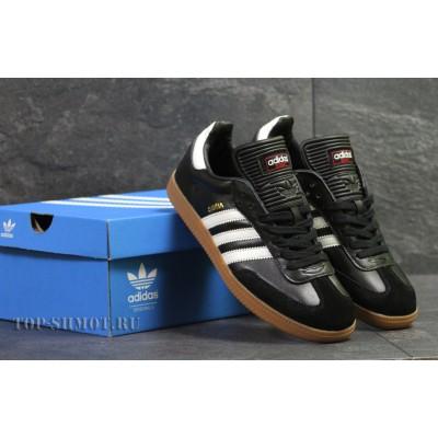Кроссовки Adidas Samba,черно белые