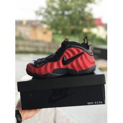 Мужские кроссовки Nike Air Foamposite Pro,красные с черным