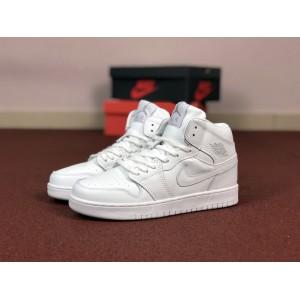 Мужские кроссовки Nike Air Jordan 1 Retro,белые