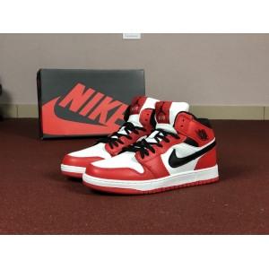 Мужские кроссовки Nike Air Jordan 1 Retro,белые с красным
