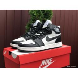 Модные подростковые кроссовки Nike Air Jordan, черно белые