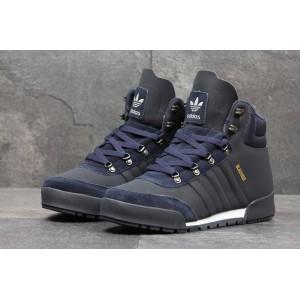 Высокие зимние кроссовки Adidas Blauvelt,темно синие 44р