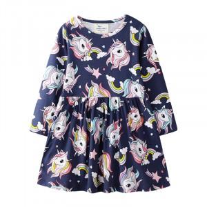 Платье для девочки Разноцветные единороги Jumping Meters