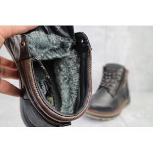 Ботинки мужские Zangak 942 чл черные (натуральная кожа, зима)