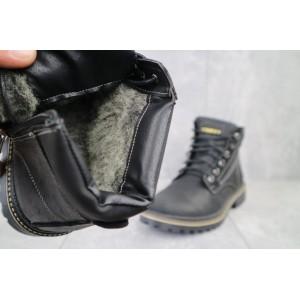 Ботинки мужские Rivest R черные (натуральная кожа, зима)