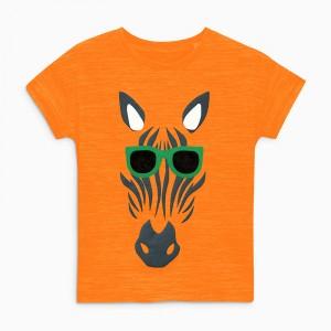 Детская футболка Зебра в очках Little Maven