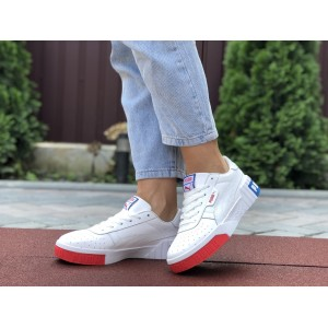 Женские кроссовки Puma Cali Bold,белые с красным