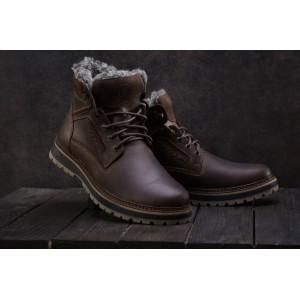 Ботинки Riccone 222 (зима, мужские, натуральная кожа, коричневый)