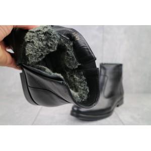 Ботинки мужские Bonis Oxford 48/2/18 черные (натуральная кожа, зима)