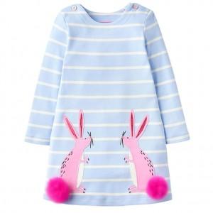 Платье для девочки Розовые зайцы Little Maven