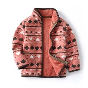 Кофта для девочки флисовая утеплённая Звездочки Berni