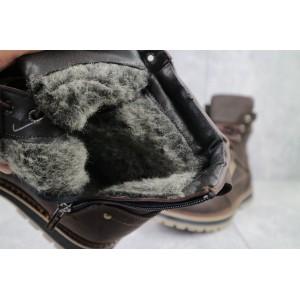 Ботинки мужские Rivest 30к коричневые (натуральная кожа, зима)