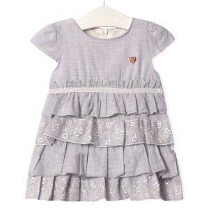 Платье для девочки Золушка, серый Flexi
