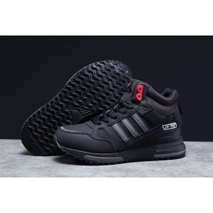 Зимние мужские кроссовки 31363, Adidas ZX 750 (мех), черные, [ 41 ] р. 46-29,!см.