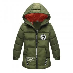 Куртка удлиненная демисезонная детская Лондон, темно-зеленый Berni