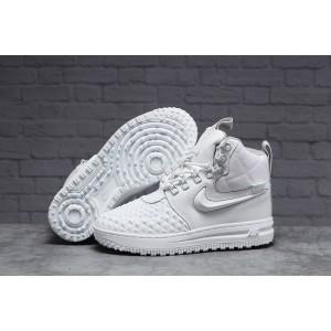 Зимние женские кроссовки 31465, Nike Air AF1 (мех), белые [ 41 ] р.(41-26,0см)