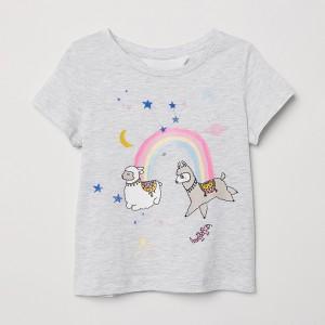 Футболка для девочки Ламы и радуга Little Maven