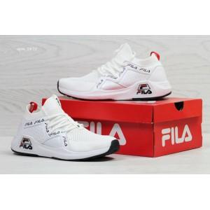 Высокие летние кроссовки Fila,белые (реплика)