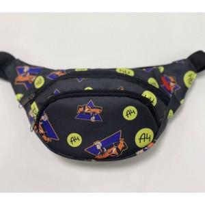 Бананка поясная сумка детская сумка-бананка яркая Влад А4 Бумага черная