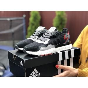Подростковые (женские) кроссовки Adidas Nite Jogger Boost 3M,черные с серым