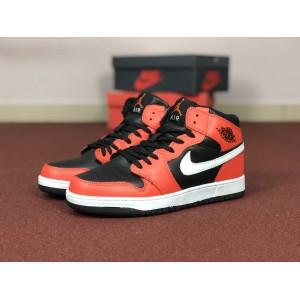 Мужские кроссовки Nike Air Jordan 1 Retro,оранжевые