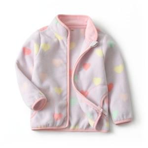 Кофта для девочки флисовая утеплённая Валентинка Berni