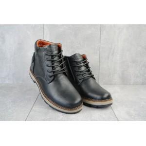Ботинки мужские Yuves 775 черные (натуральная кожа, зима)