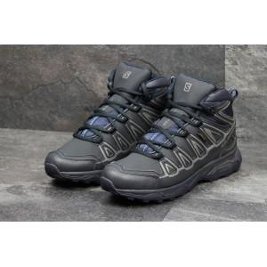Высокие зимние мужские кроссовки Salomon X-Ultra,темно синие,на меху 41,42р