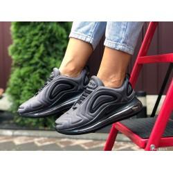 Модные женские,текстильные кроссовки Nike Air Max 720, серые с черным