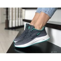 Кроссовки женские (подростковые) Nike Flyknit Lunar 3,серые с мятным
