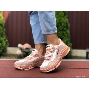 Модные женские кроссовки Balenciaga,Баленсиага,пудра
