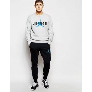 """Мужской серый спортивный костюм Jordan Blue logo """""""" В стиле Jordan """" 0944"""