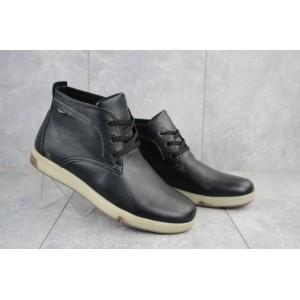 Ботинки мужские Yuves Obr 7 черные (натуральная кожа, зима)