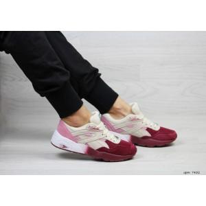 Женские кроссовки Puma Trinomic,бежевые с бордовым
