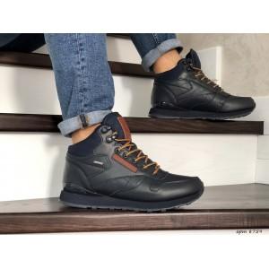 Мужские высокие зимние кроссовки Reebok,темно синие