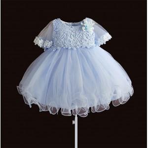 Платье для девочки Pearl Nice, голубой Zoe Flower