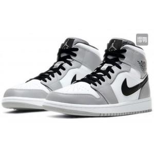 Модные подростковые кроссовки Nike Air Jordan,серые с белым