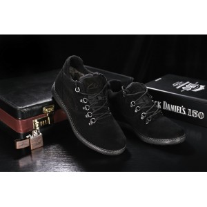 Ботинки Yuves 600 (Clarks) (зима, мужские, замша, черный)